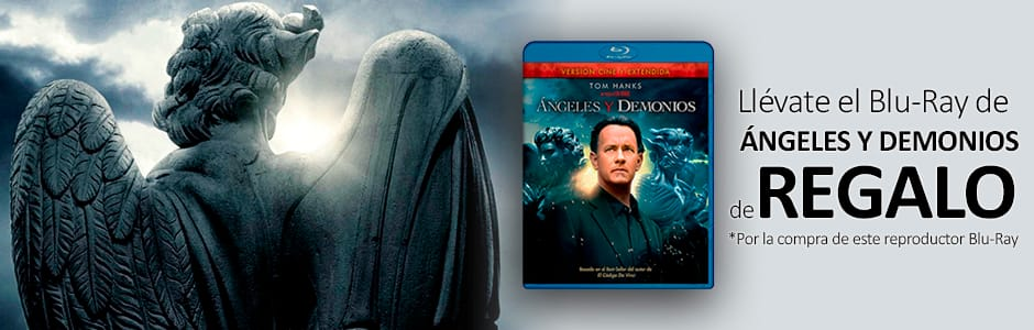 "PELÍCULA BLURAY ""ANGELES Y DEMONIOS"" DE REGALO"